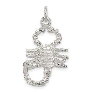 Sterling Silver Polished Scorpion Pendant