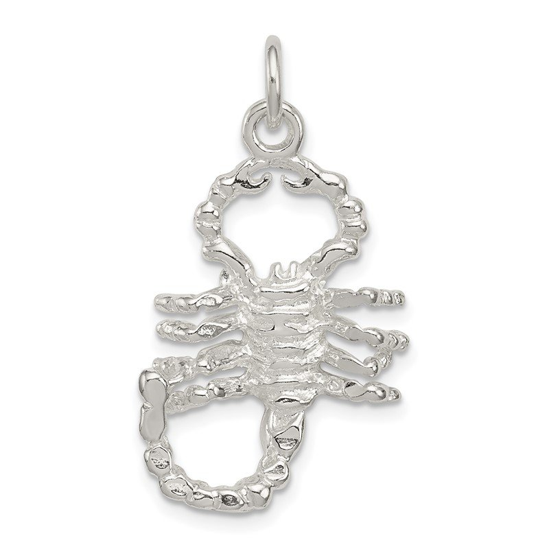 Quality Gold Sterling Silver Polished Scorpion Pendant