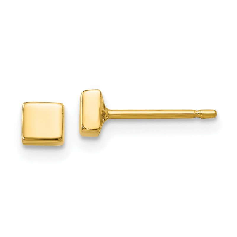 Quality Gold 14k Polished Square Post Ear