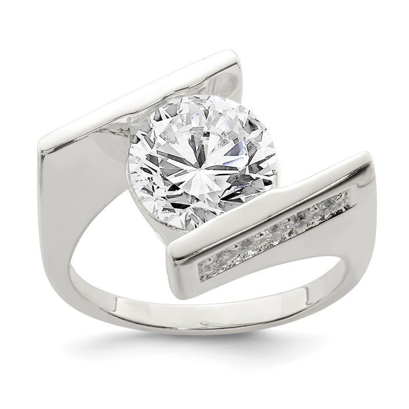 J.F. Kruse Signature Collection Sterling Silver CZ Ring