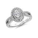 Valina Bridals Double Halo Engagement Ring Mounting in 14K White Gold (.47 ct. tw.)