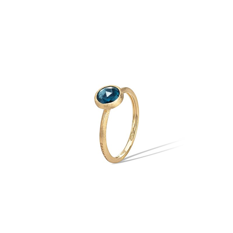 Marco Bicego Jaipur London Blue Topaz Stakable Ring