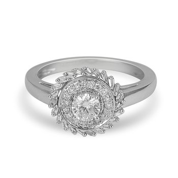 14K WG Baguette Diamond Ring Solelite Collection