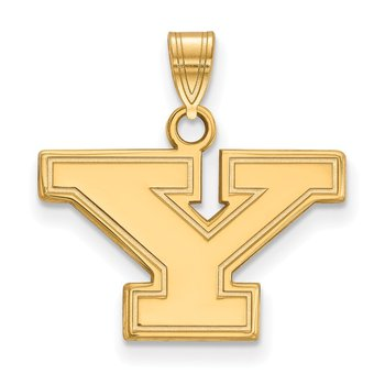 Gold-Plated Sterling Silver Youngstown State University NCAA Pendant
