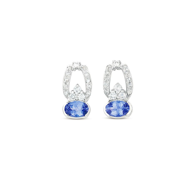 Briana Tanzanite & Diamond Earring