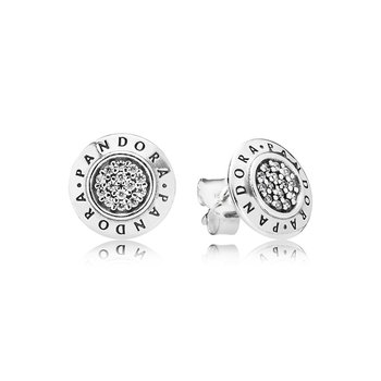 Pandora Signature Stud Earrings, Clear Cz