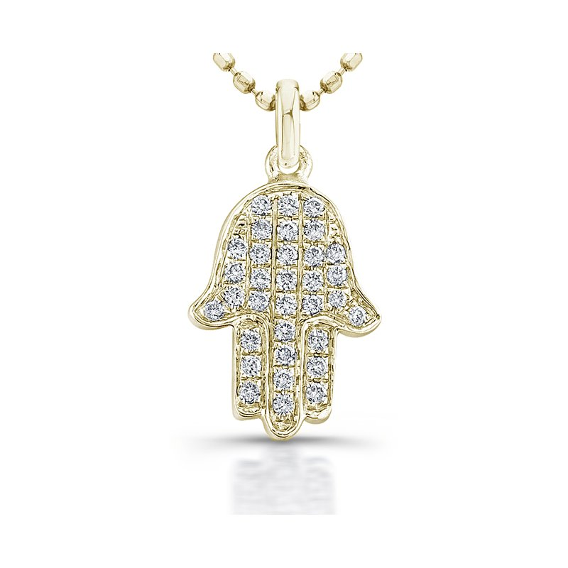 Robert Palma Designs Yellow Gold Piety Mini Hamsa Pendant