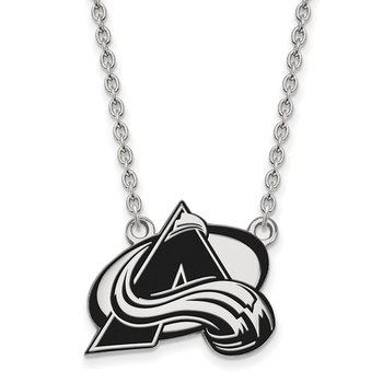 Sterling Silver Colorado Avalanche NHL Necklace