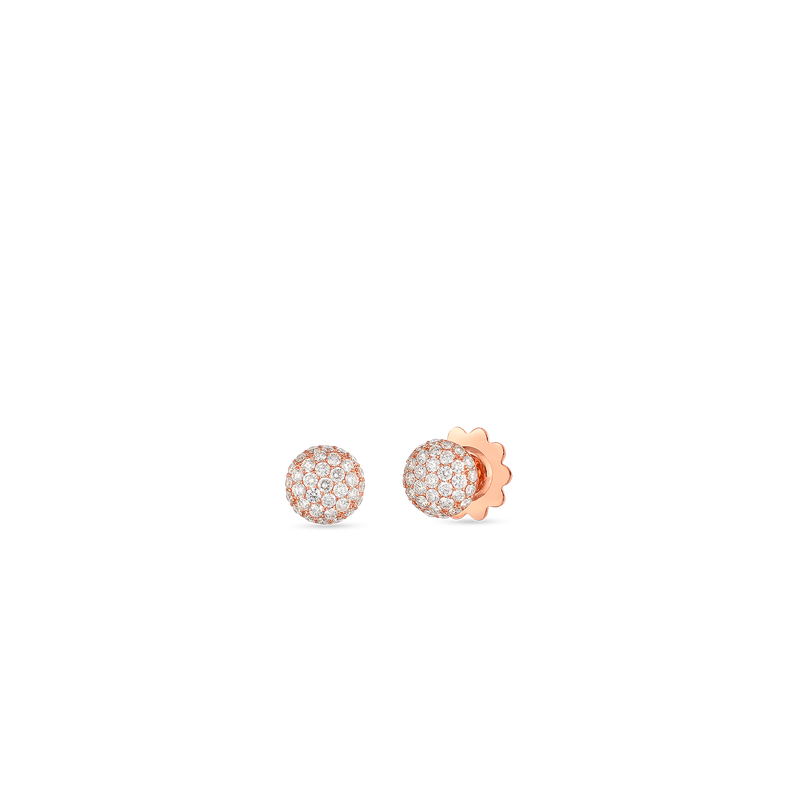 Roberto Coin 18KT GOLD DISC EARRINGS WITH DIAMONDS