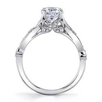MARS 26249 Diamond Engagement Ring 0.21 Ctw.