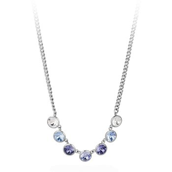316L stainless steel and lavander, tanzanite and light sapphire Swarovski® Elements.