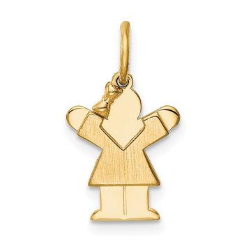 14k Mini Girl Love Charm