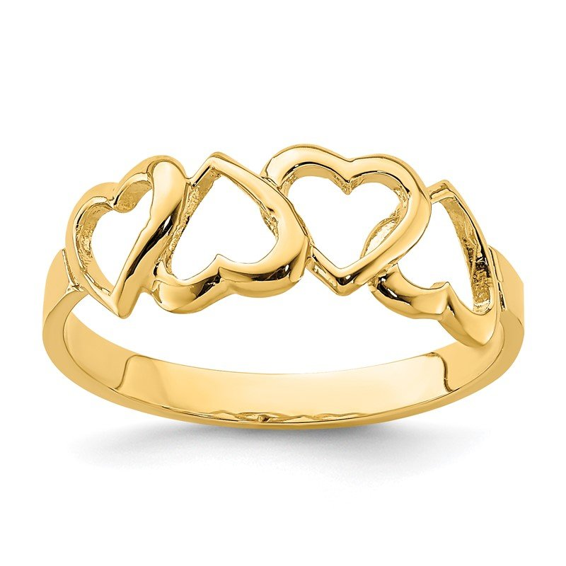 Quality Gold 14K Polished Heart Ring
