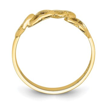 14K Polished Heart Ring