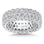 Caro74 CARO 74 Eternity Band  in 14K White Gold (Size 5.0)