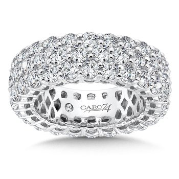 CARO 74 Eternity Band  in 14K White Gold (Size 5.0)