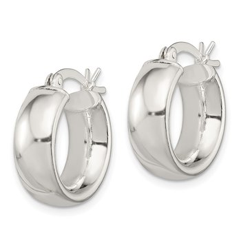 Sterling Silver 6mm Round Hoop Earrings