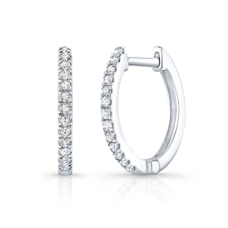 Robert Palma Designs White Gold Huggie Hoops