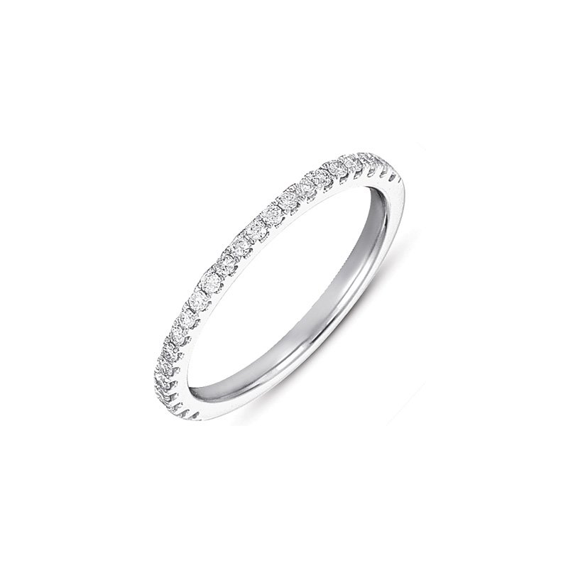S. Kashi & Sons Bridal White Gold Matching Band FOR EN7186
