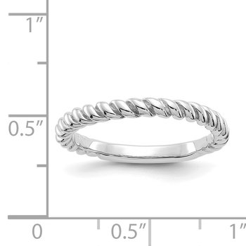 14k White Gold Polished Twisted Band