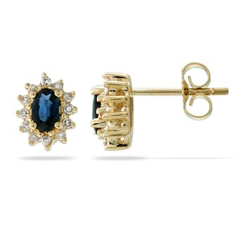 14K YG Sapphire and Diamond All Purpose Earri