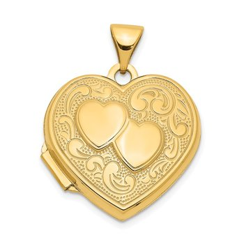 14k Double Heart Locket