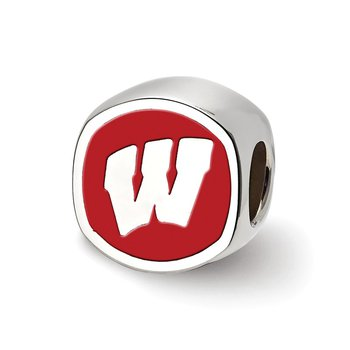 Sterling Silver University of Wisconsin NCAA Bead