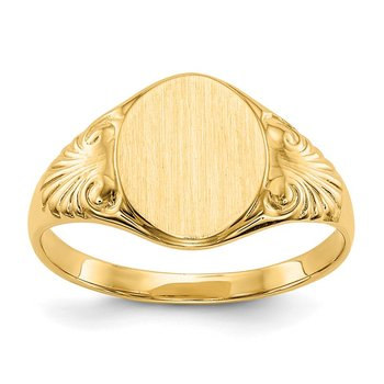 14k 10.0x7.5mm Closed Back Signet Ring