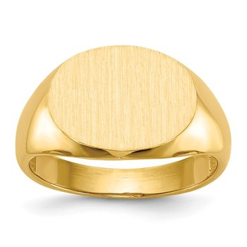 14k 12.0x16.0mm Open Back Mens Signet Ring