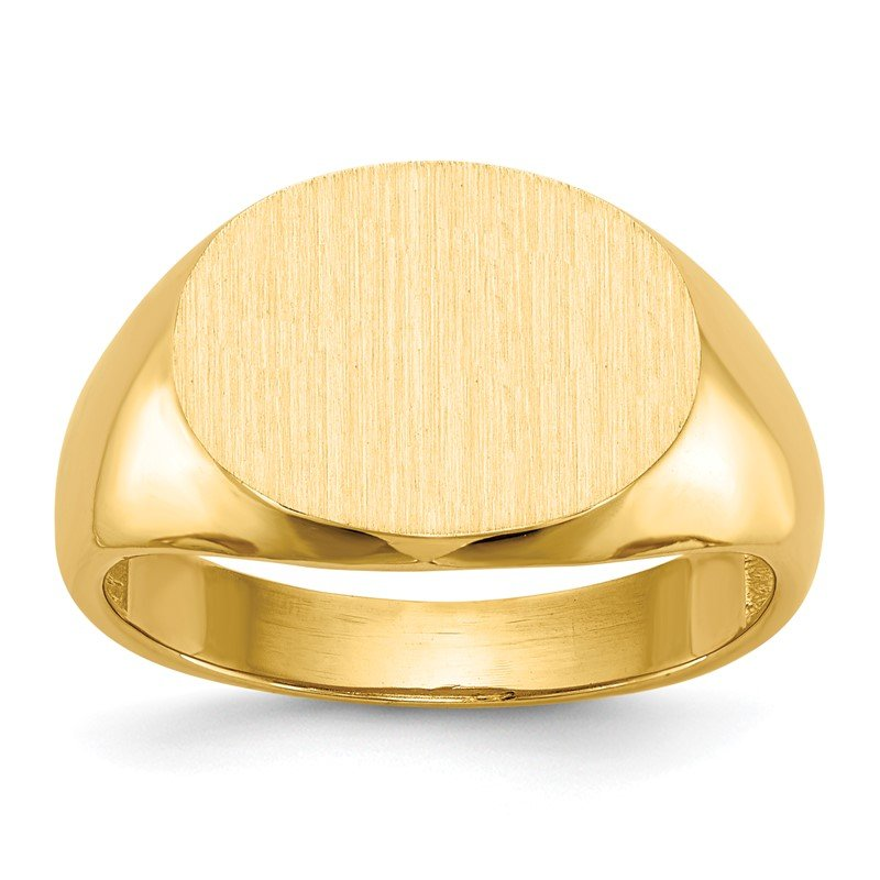 Quality Gold 14k 12.0x16.0mm Open Back Mens Signet Ring