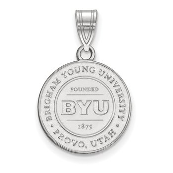 Sterling Silver Brigham Young University NCAA Pendant