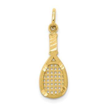 10k Solid Racquetball Racquet Charm