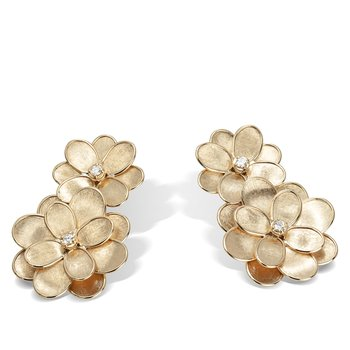 Petali Double Flower Drop Earrings