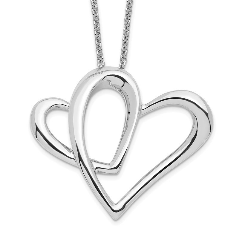 Quality Gold Sterling Silver Mother A Part of My Heart 18in Necklace