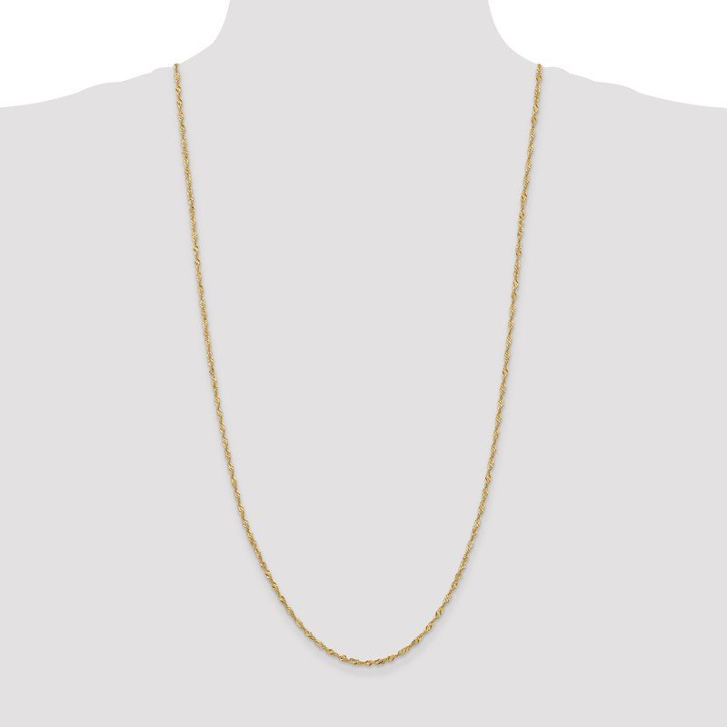 Quality Gold 14k 2mm Singapore Chain