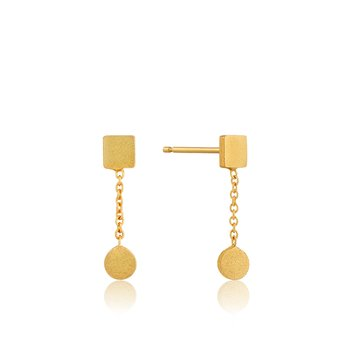 Two Shape Drop Earrings