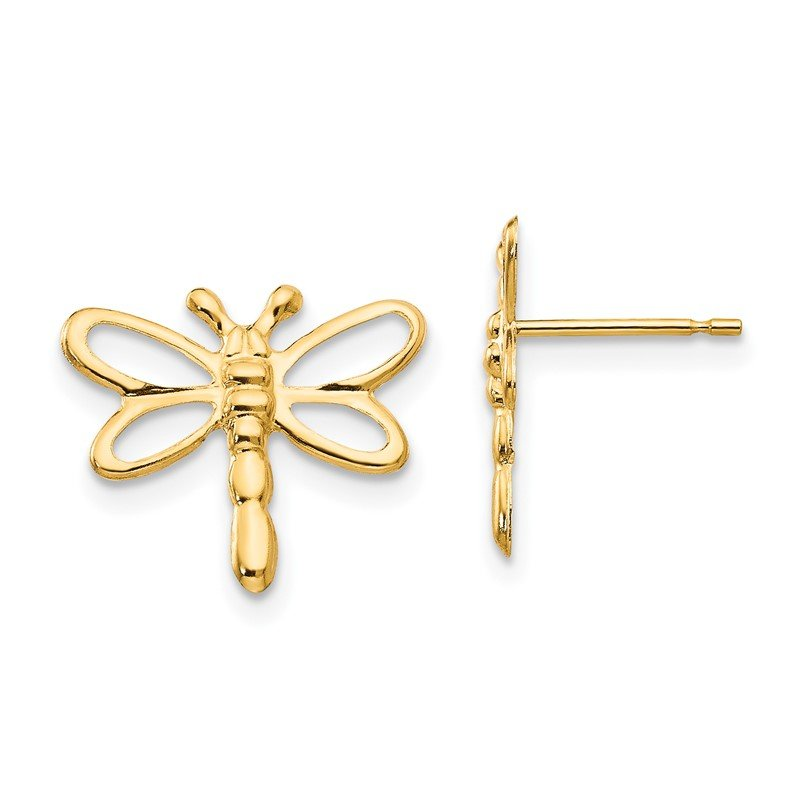 Quality Gold 14k Madi K Dragonfly Post Earrings