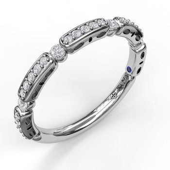 Bar and Bead Diamond Band