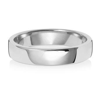 Platinum 4mm Soft Court Wedding Ring