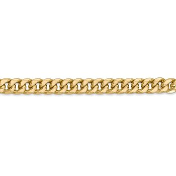 14k 6mm Semi-Solid Miami Cuban Chain