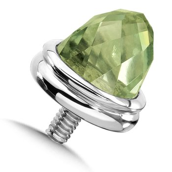 Sterling Silver Green Amethyst Caps