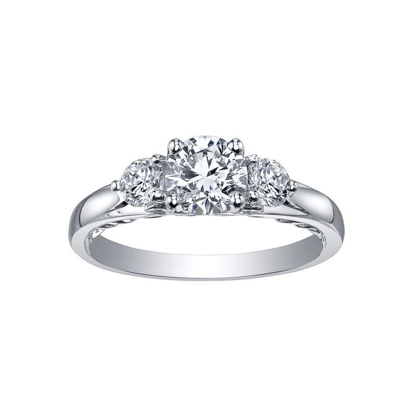 Maple Leaf Diamonds Maple Leaf Diamond Tides of Love Ladies Three Stone Ring