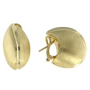 18KT GOLD SATIN EARRINGS