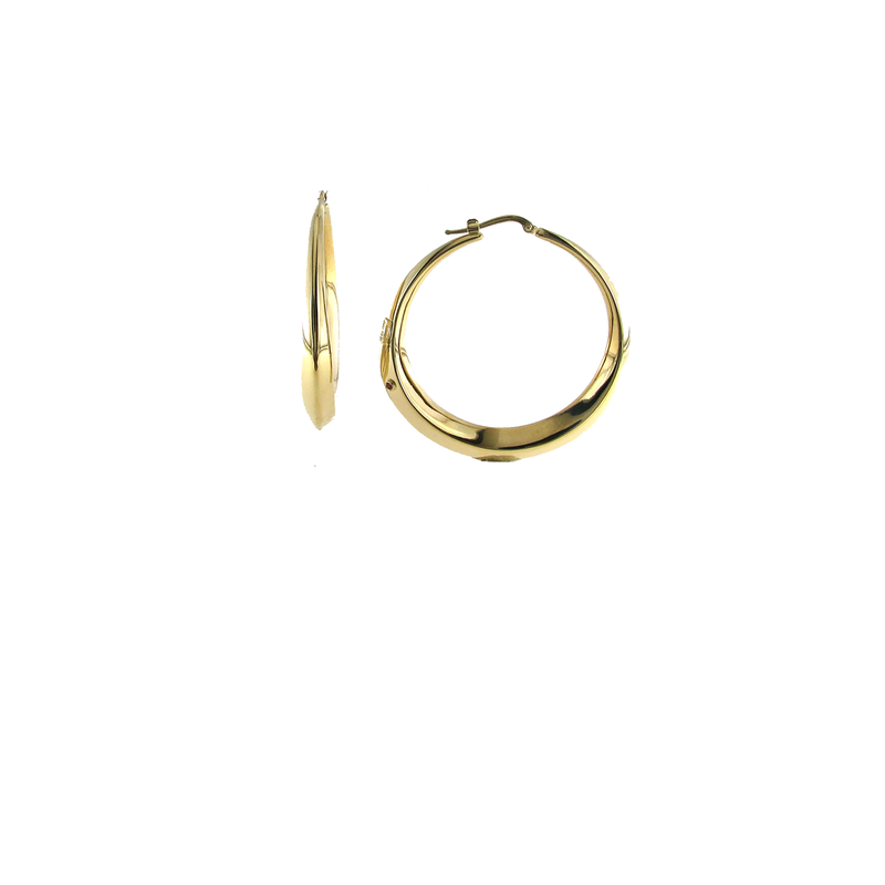 Roberto Coin 18Kt Gold Tapered Round Hoops