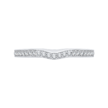 18K White Gold Half-Eternity Diamond Wedding Band