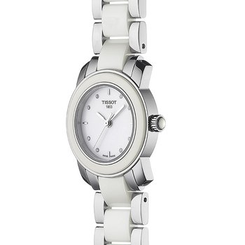 Cera Ladies White Quartz Trend Watch With Diamonds