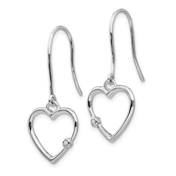 SS White Ice Diamond Heart Earrings