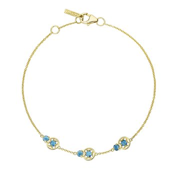 Petite Gemstone Bracelet with London Blue Topaz
