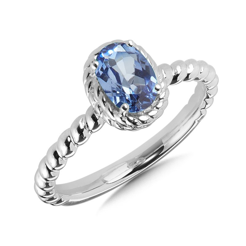 SDC Creations Created Blue Sapphire Ring in Sterling Silver