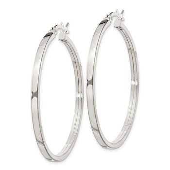 Sterling Silver 2.5x40mm Polished Hoop Earrings